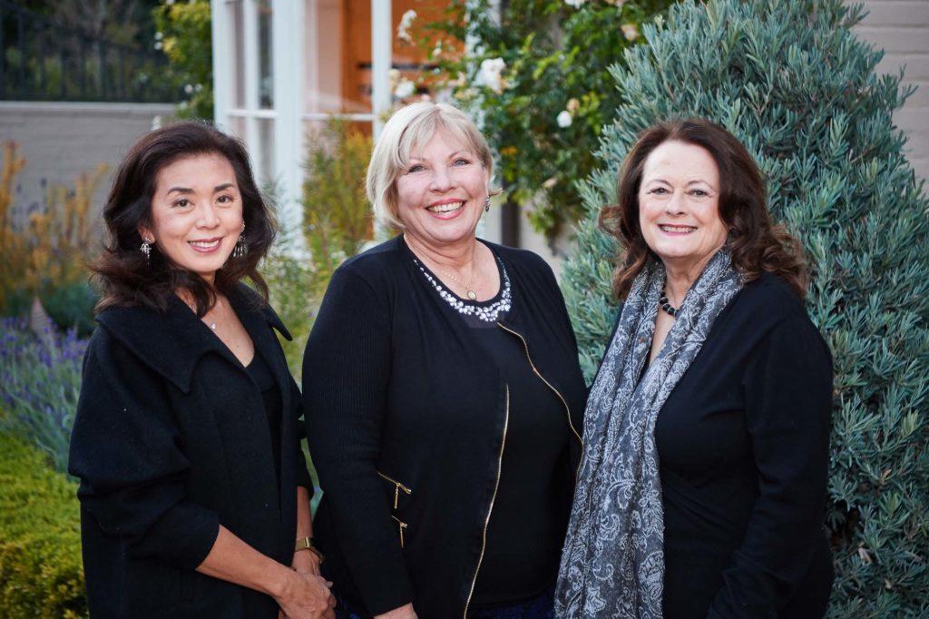 Vikki Sung, Marilyn Anderson, Dana Marevich, President of Pasadena Showcase House for the Arts